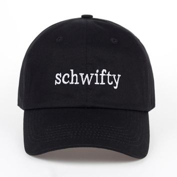 Rick and Morty Get Schwifty Black Embroidered Cotton Dad Hat