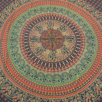 Large Hippie Hippy Wall Hanging , Indian Mandala Tapestry Fabric Throw Bedspread Queen Bed Decor Sheet Ethnic Decorative Art