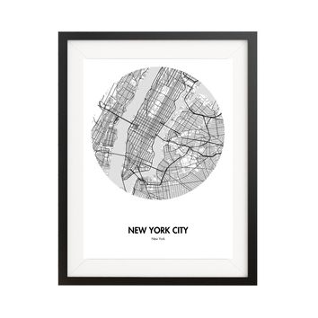 New York City Map Poster - 18 by 24 inch City Map Print