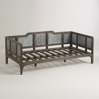 Embossed Metal and Wood Liza Daybed