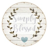 Simply Blessed Plaque Wall Art 612822933