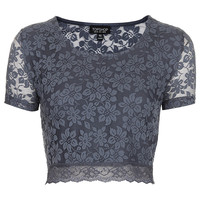 Lace Crop Tee - New In This Week - New In - Topshop USA