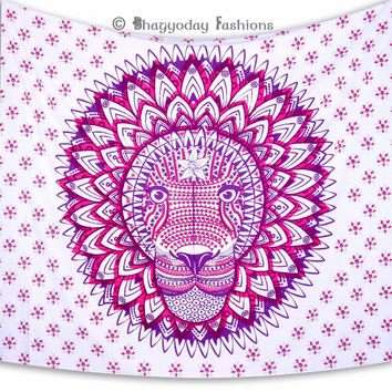 Indian Tribal Rasta Lion Tapestry Bohemian Beach Mandala Astrology Zodic Boho Wall Hanging Bedspread