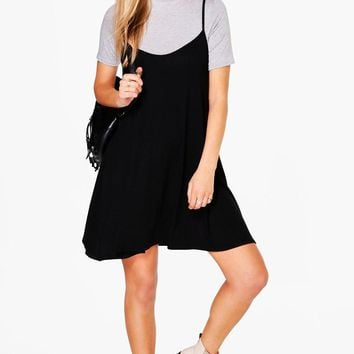 Vita Short Sleeved Cami Shift Dress | Boohoo