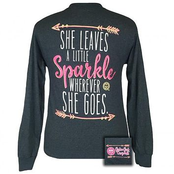 Girlie Girl Southern Originals She Leaves A Sparkle Arrows Long Sleeve T-Shirt