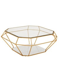 Eichholtz Asscher Coffee Table - Gold
