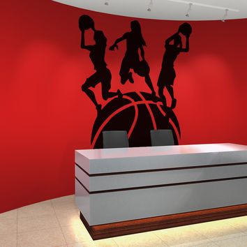 Vinyl Wall Decal Sticker Women's Basketball World #OS_AA505