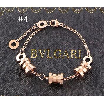 BVLGARI three-ring three-color spring bracelet color matching couple bracelet F-HLYS-SP #4