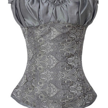 Ruffled Embroidery Corset Top