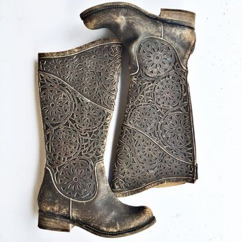Corral Laser Cut Riding Boots
