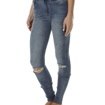 DR DENIM LEXY HIGH WAIST JEAN - LIGHT STN DESTROYED