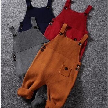 Knitted Overalls For Fall