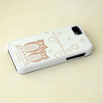 Owl Always Love You, Personalized Phone Case, Couples Monogrammed iPhone 4 Case, iPhone 5 Case, Samsung Galaxy S4 Case