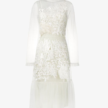 'EVELYN' LACE EMBROIDERED DRESS