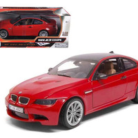 BMW M3 E92 Coupe Red 1-18 Diecast Car Model by Motormax