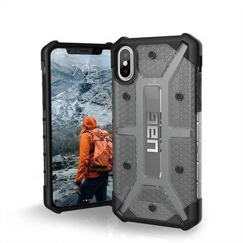 CREYRQ5 UAG iPhone X Plasma Feather-Light Rugged [ASH] Military Drop Tested iPhone Case