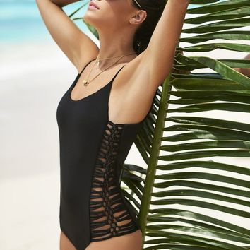 Malai Swimwear Onyx Shore Bow One Piece