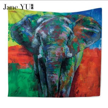 JaneYU 6 Colors Penguin Pattern Tapestry  Decoration Tapestry Wall Hanging Hippie Throw Bohemian Bedspread Cover Set Tapestries
