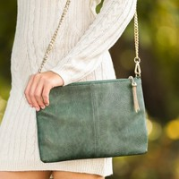 Friday Night Clutch-Olive