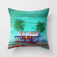 The Shack Throw Pillow by Sophia Buddenhagen