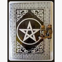 Pentagram  Leather Latched  Journal