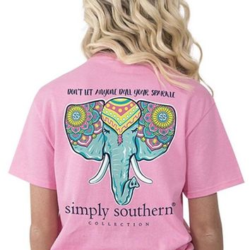 Simply Southern Elephant Top- Pink