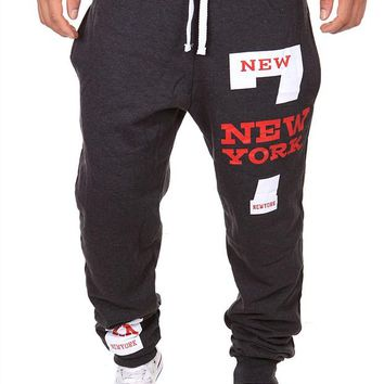 Mens Joggers 2017 Men'S Fashion Letters Printing Design Leisure Mens Joggers Department Of Bandwidth Loose Men Pants