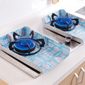 4Pcs Reusable Easy Clean Gas Stove Protector Cover Non Stick Burner Liner Dishwasher Safe Kitchen Cleaning Tools