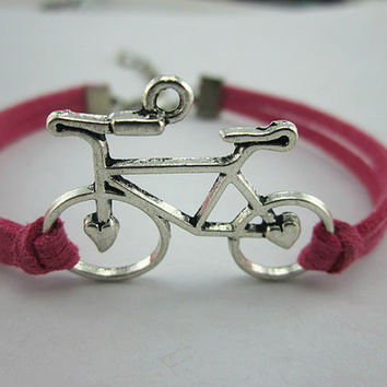 Simple lovely bike for boy and girl's friendship bracelets fashionable bracelet adjustable - N is better than a gift
