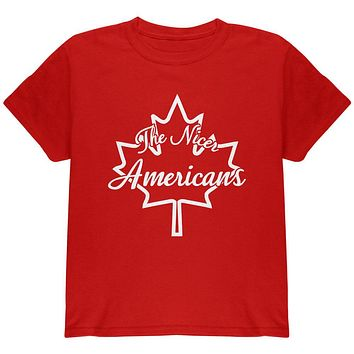 Canada The Nicer Americans Youth T Shirt