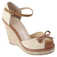 Womens' Hailey Jeans Co  Bow Accent Ankle Strap Wedges