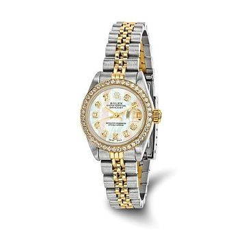 Rolex 18KY diamond Mother of Pearl Preown Luxury Watch