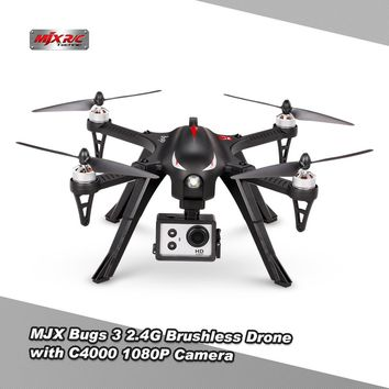 MJX Bugs 3 B3 2.4G Brushless Motor Independent ESC Drone with C4000 1080P Camera Drone RC Quadcopter Helicopter Multirotor