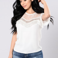 Hold Me With Your Heart Top - Off White