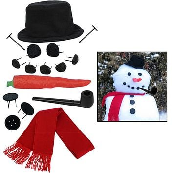 Evelots My Very Own Snowman Kit, 16 Pieces Included