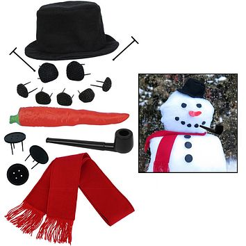 Evelots Set of 2 My Very Own Snowman Kit, Winter Fun For All,16 Pieces Per Set