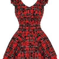 Tartan & Tutu [Red] | DRESS