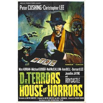 Dr Terrors House Of Horrors Movie poster Metal Sign Wall Art 8in x 12in