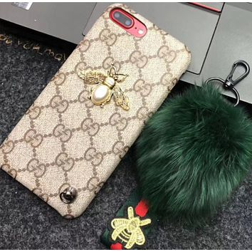 GUCCI new iPhone 7plus Gucci phone shell X bee simple 8plus6S