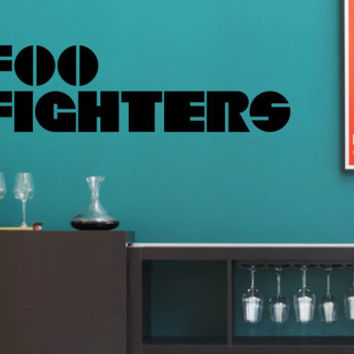 Vinyl Wall Word Decal - Foo Fighters - Band Logo - Home Goods - Car or Wall Decal