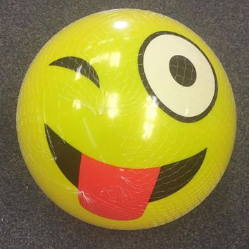 Emoji Inflatable Balls - CASE OF 72