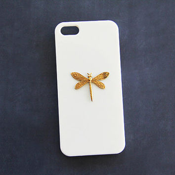 Dragonfly iPhone 6 Case iPhone 5s  iPhone 5 Dragon fly iPhone 5c Insect Cover Unique Cases Galaxy S3 Beige Case Galaxy S4 iPhone 6 Plus Cute