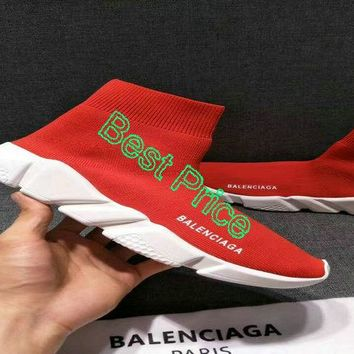 2018 Purchase Balenciaga Speed Trainer Mid Red sneaker