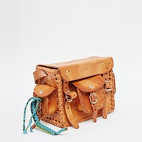Hiptipico Mini Taco Multi Pocket Leather Bag