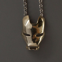 Iron man mask  pendant Iron man pendant.Creative by zeroten2012