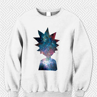 Rick and Morty Galaxy Sweater Man and Sweater Woman