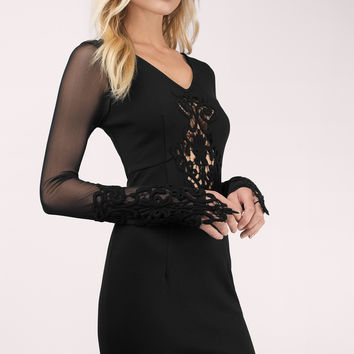 After Dark Mesh Bodycon Dress