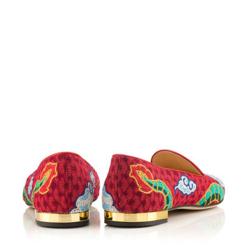 Charlotte Olympia Women's Designer Flat Shoes | Charlotte Olympia - DRAGON SLIPPER