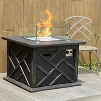 Modern Gas Outdoor Patio Heater Firepit Fire Pit