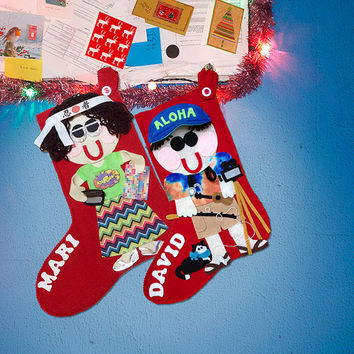 Custom Christmas Stockings, Personalized Christmas Stockings, Felt Christmas Stocking, Family Stockings, One of a Kind